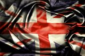 Closeup of grunge Union Jack flag
