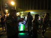 Street Band Jams As It Rolls Down The Street