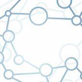 Modern Intricacy Atom Structure Network Background