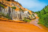 Colored Sandstone And Red River
