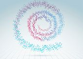 Colorful Abstract Bright Particle Spiral