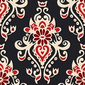 Luxury Damask seamles tiled motif vector pattern