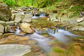 image of pieniny  - The Zaskalnik Waterfall in the Pieniny Mountains Range - JPG