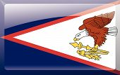 image of samoa  - Flag of American Samoa as Glass Button or Glossy Sticker - JPG