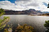 Mount Slioch Framed Above Loch Maree