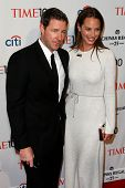 NEW YORK-APR 29: Actor Ed Burns (L) and wife Christy Turlington Burns attend the Time 100 Gala for t