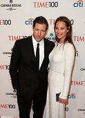 NEW YORK-APR 29: Actor Ed Burns (L) & Christy Turlington Burns attend the Time 100 Gala for the Most