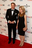 NEW YORK-APR 29: Talk show host Charlie Rose (L) &Amanda Burden attend the Time 100 Gala for the Mos