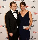NEW YORK-APR 29: Dr. David Sinclair (L) and guest attend the Time 100 Gala for the  Most Influential