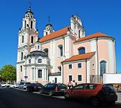 Church Of St. Catherine In Vilnius, Spring Time On April 26, 2014