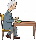Man Eating At Table