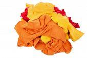 Heap of bath towels