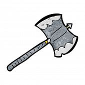 cartoon double sided axe