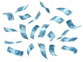 picture of brazilian money  - Flying Brazilian Real  - JPG