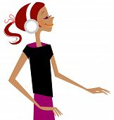 girl wearing earmuffs