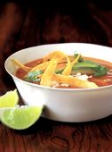 sopa de tortilla mexicana saludable