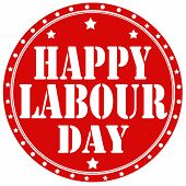 pic of labourer  - Label with text Happy Labour Day - JPG