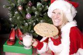 Santa Helper With Great Big Cookie