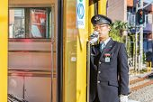 Japanese Train Conductor