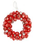 holiday decor, sleigh bell wreath
