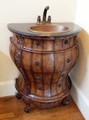Model Luxury Home Interior Oak Barrel Bathroom Sink
