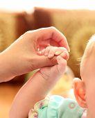 Parent Holds Babys Hand