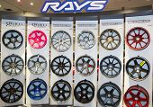Rays rims on display in New York