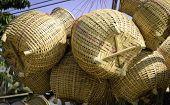Thai Handmade Bamboo Fish Container