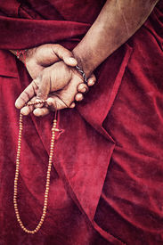 foto of tibetan  - Vintage retro effect filtered hipster style travel image of Tibetan Buddhism  - JPG