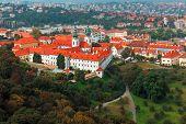 Aerial View Over Strahov Monastery In Prague, Czech Republic