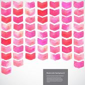 Watercolor vector geometric chevron illustration
