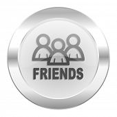 friends chrome web icon isolated