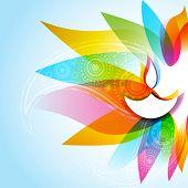 Vector illustration of stylish diwali background