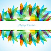 vector colorful Happy diwali background