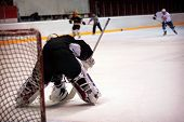 Hockey Goalkeeper In Generic Black Equipment