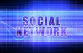 Social Network on a Tech Business Chart Art