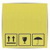 Symbols On Paper Box