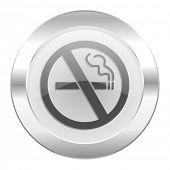 no smoking chrome web icon isolated
