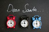 Постер, плакат: Dear Santa On A Chalkboard