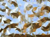 Abstract pattern of small metal pieces illustration