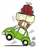 Moving car cartoon