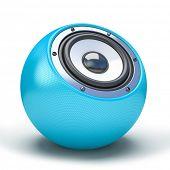 blue sphere speaker 3D
