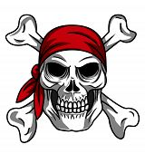 stock photo of skull cross bones  - skull pirate Editable  - JPG