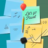 Travel and tourism concept. Lets go travel