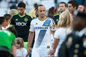 CARSON, CA - OCT 19: Landon Donovan takes to the field for his last regular season home game before retiring from professional soccer on October 19th 2014 at the StubHub Center.