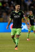 CARSON, CA - OCT 19: Clint Dempsey during the Los Angeles Galaxy MLS game against the Seattle Sounders on October 19th 2014 at the StubHub Center.
