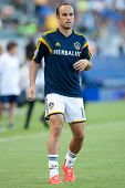 CARSON, CA - OCT 19: Landon Donovan warms up for his last regular season home game before retiring from professional soccer on October 19th 2014 at the StubHub Center.