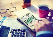 Businessman Writing Success Goals Concept
