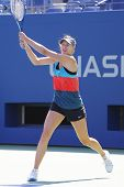 Four times Grand Slam champion Maria Sharapova practices for US Open 2014