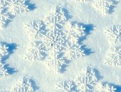 Winter Snow Background. Snowflake closeup. Holiday abstract background
